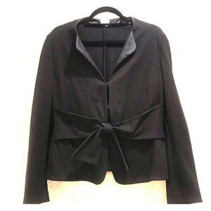 Armani Collezioni Jacket Size 12 Black with Tie